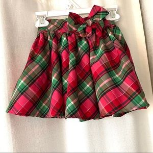 OshKosh Pink Green Plaid Party Skirt 3T